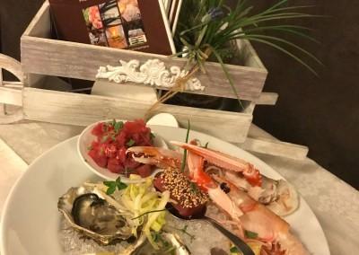 Piatto di pesce al ristorante la baita