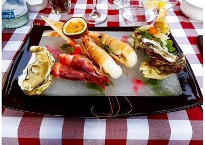 Piatto di pesce ristorante la baita